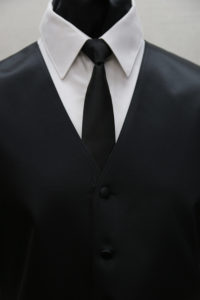 Black Simply Solid with Windsor Tie