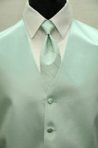 Simply Solid Mint Striped Windsor Tie