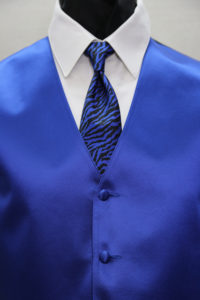 Simply Solid Royal Blue with Zebra Stripe Windsor