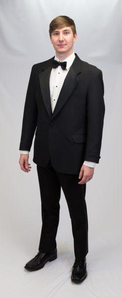 black tuxedo, slim fit