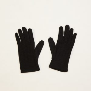 black nylon formal gloves