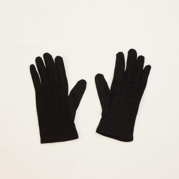 black nylon formal gloves