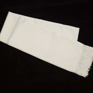 white formal scarf