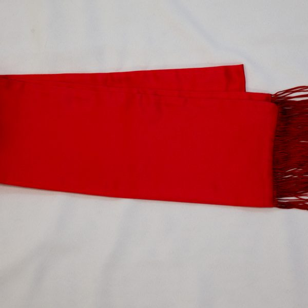 red formal scarf