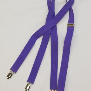 purple adjustable suspenders